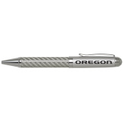 University of Oregon -Carbon Fibre Ballpoint Pen-Silver