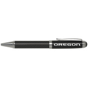 University of Oregon -Carbon Fibre Ballpoint Pen-Black