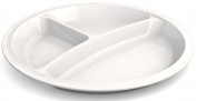 Ornamin 730 Divided Plate, 25 cm, White