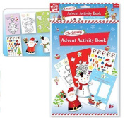 The Home Fusion Company Christmas Activity Craft Pad Glitter Foam Shapes & Colouring Stocking Fillers