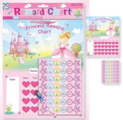ToyLand Childrens Princess Reward Chart With Wipe Clean Board, Pen & Stickers. Fun! By Anker