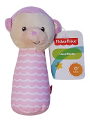 Fisher Price Soft Plush Hand Rattle Lil Nuzzler Pink Monkey