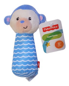 Fisher Price Soft Plush Hand Rattle Lil Nuzzler Blue Monkey