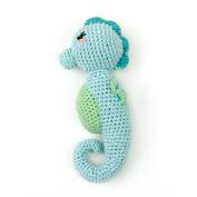 Weegoamigo Crochet Rattle - Snazzy Seahorse