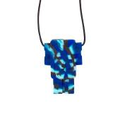 Jellystone Robot 13 Pendant Teether Kids Necklace - Marine Camo