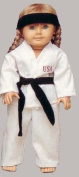 Martial Arts Outfit. Fits 46cm Dolls like American Girl.