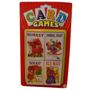 KandyToys Card Games Donkey, Animal Snap, Snap And Old Maid