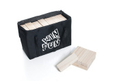 Giant Toppling Blocks Game By Win4Fun - New Zealand Pinewood Blocks Featuring A Smooth Finish & Pest Control Certificate - Storage Bag & Instructions Manual Included