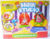 New Hair Studio 4 Pots Play Clay Dough Set Growing Hairdressers Chair Fun TY369 For Age 3+