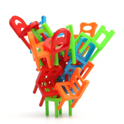 SICA 18X Plastic Balance Toy Stacking Chairs For Kids Desk Play Game Toys Parent Child Interact