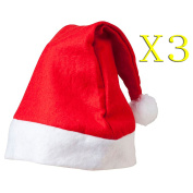 Generic Red Christmas Hat Santa Claus Hat Christmas Party Supplies Set Of 3