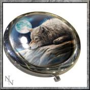 Quiet Reflection WOLF Compact Handbag Mirror Nemesis Now LISA PaRKER