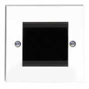 Philex 70435R Single Width Brushed Cable Entry/Exit Faceplate