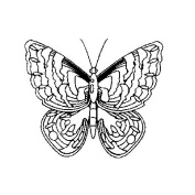 Art Stamps Small Butterfly Stamp