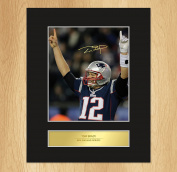 Tom Brady Signed Mounted Photo Display New England Patriots