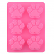 Lovely Sweet Multifunction Dog Paw Silicone Mould Ice Cube Cake Soap Baking Mould Kitchen Accessoriess