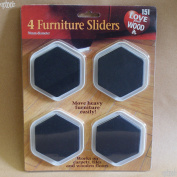 4 Furniture Sliders - 70mm Diameter