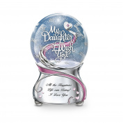 """""""My Daughter, I Wish You"""" Musical Glitter Snowglobe By The Bradford Exchange"""