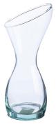 Ravenhead Naturals Waisted Blown Glass Contemporary Vase, Transparent, 29 cm