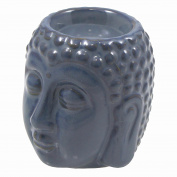 Just Contempo Buddha Head Ceramic Oil Burner, Navy Blue