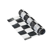 Talking Tables Truly Alice in Wonderland Chequered Fabric Table Runner for a Tea Party or Birthday, Monochrome