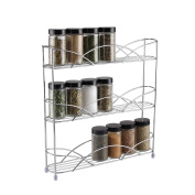 Kitchenista Free Standing Spice and Herb Rack, Universal - Chrome
