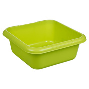 Square Washing Up Bowl Durable with Gripped Handles 9 Litre