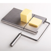 TAMUME Stainless Steel Cheese Board with Cutting Wires for Cheese Slicer and Cheese Planer