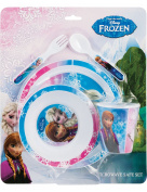 Frozen (5 Piece) Tableware Set Microwavable Plastic - Plate, Bowl, Cup, Cutlery