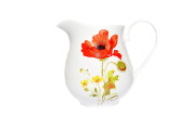 Bone China 1/2 PINT MILK JUG-WILD POPPY- Kirsty Jayne China- Hand decorated in the Potteries, Staffordshire, England.