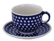 Ceramic Pottery Cup and Saucer (Milchkaffeetasse) 0.5 Litres with 42