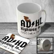 MAC_FUN_259 ADHD Highway to... OHH Look a Squirrel - Mug and Coaster set