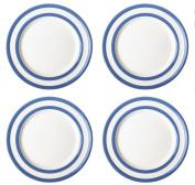 Cornishware Blue and White Stripe Set of 4 Breakfast Plates 23cm