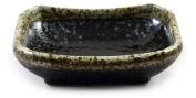 Black Speckle Glazed Japanese Ceramic Soy Sauce Dish