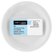 Chef's Larder 50 Round Strong Moulded Paper Plates 170mm