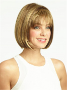 5I Short Straight Hair Bob Wigs Heat Resistant Wig Natural As Real Hair (Light Golden) with 1 Wig Cap Z012
