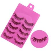 .  5 Pairs False Eyelashes,Canserin Natural Handmade Soft Long Eyelashes