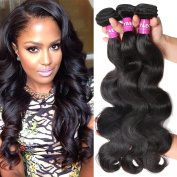 YAEONS Hair Peruvian Hair 3 Bundles Body Wave Grade 5A Unprocessed Virgin Human Hair Weave