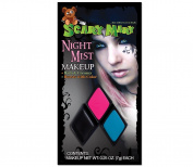 Scary Mary Makeup Kit Halloween Gothic, Teal Blue/Hot Pink/Black
