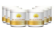 Cellulite treatment - ANTI CELLULITE CREAM with Natural Herbal Infusion - Personal beauty care - 6 Jars