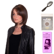 (4 Item Bundle) - (#BT-6002) Double Shot Bob by Belle Tress, Wig Brush, Booklet and a Free Wig Cap Liner.