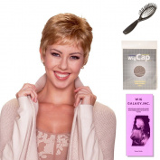 (4 Item Bundle) - (#BT-6030) Petite Feather Lite by Belle Tress, Wig Brush, Booklet and a Free Wig Cap Liner.