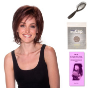 (4 Item Bundle) - (#BT-6017) Katie by Belle Tress, Wig Brush, Booklet and a Free Wig Cap Liner.