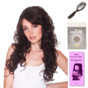 (4 Item Bundle) - (#BT-6028) Hollywood (3/4 Wig) Bailey by Belle Tress, Wig Brush, Booklet and a Free Wig Cap Liner.