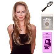 (4 Item Bundle) - (#BT-6025) Envy 3/4 Wig by Belle Tress, Wig Brush, Booklet and a Free Wig Cap Liner.