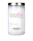 PURE & 100% RAW, Organic Virgin Coconut Oil for Hair, Skin, Body, Scalp and Hair Growth by COCO & CO. / Cosmetic Beauty Grade