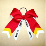 Custom Mascot Large Arrow Tail Bow, Made in the USA, Pick your Mascot & Colours, Black Pony Band