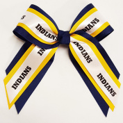 Custom Multi Layer Mascot Hair Bow, Made in the USA, Pick your Mascot & Colours, Black Pony Band