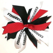 Custom Pom Mascot Hair Bow, Made in the USA, Pick your mascot & colours, White Pony Band