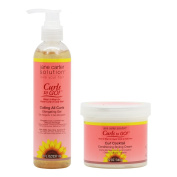 """Jane Carter Curls to GO Coiling All Curls Elongating Gel 240ml & Curl Cocktail Conditioning Styling Cream 350ml """"Combo"""""""